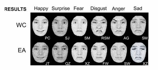 Think, facial expressiveness in cultures